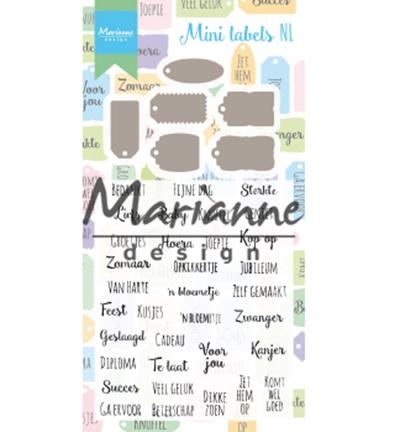 Clear stamp met mal - Mini labels NL CS1028