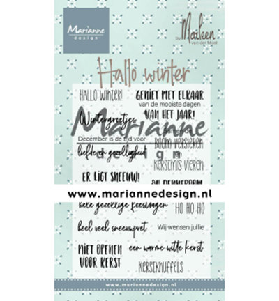 Clear stamp Hallo winter by Marleen CS1036