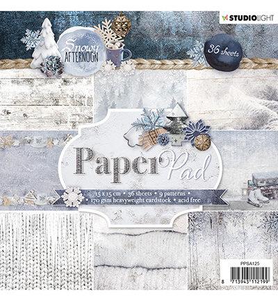Studio Light - Paper pad - 36 vel Snowy Afternoon nr.125- PPSA125
