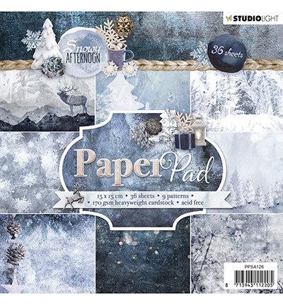 Studio Light - Paper pad - 36 vel Snowy Afternoon nr.126- PPSA126