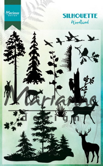 Marianne design, Clear stamp - Silhouette woodland CS1014 1110x150mm