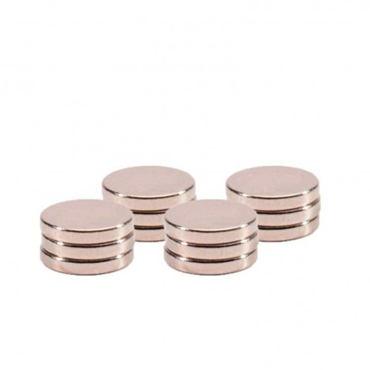 Magneet Ø10x1mm Ni coated 12pcs