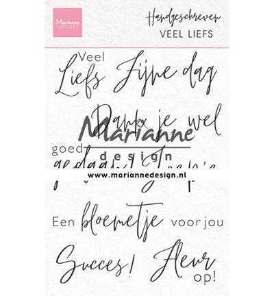 Clear stamp - Handgeschreven - Veel liefs CS1050