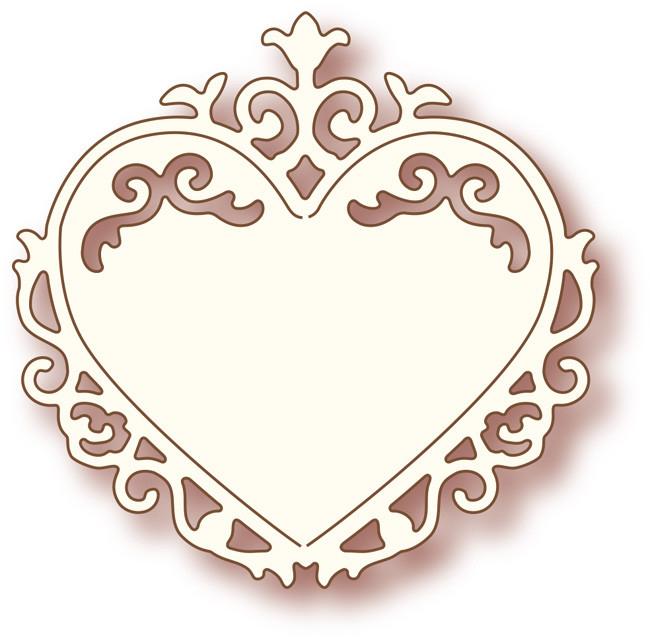 Wild Rose - SD006- Ornate Heart