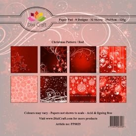 Dixi paper pack christmas red (pp0025)