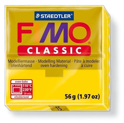 Fimo classic boetseerklei 56 g goudgeel