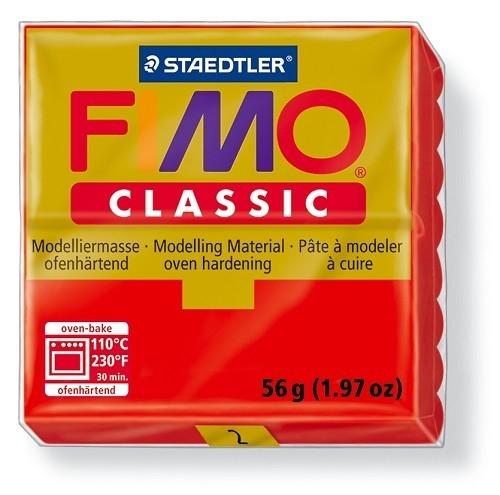 Fimo classic boetseerklei 56 g rood