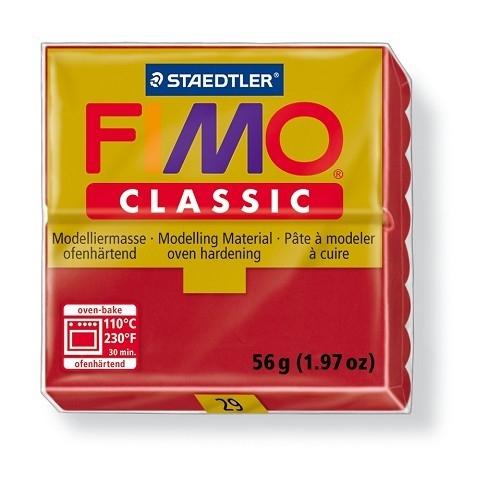 Fimo classic boetseerklei 56 g karmijn