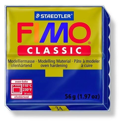 Fimo classic boetseerklei 56 g marine blauw