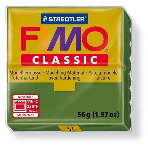Fimo classic boetseerklei 56 g bladgroen