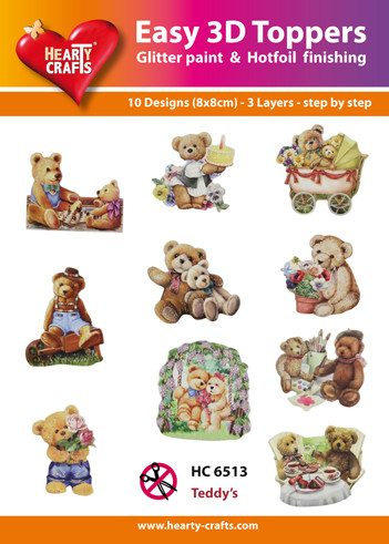 Easy 3d toppers, Teddy Beren  HC 6513