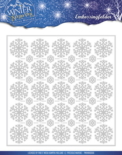 Precious marieke, Winter wonderland , embossing folder