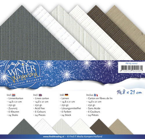 Precious marieke, Winter wonderland , 4K linnenpapier