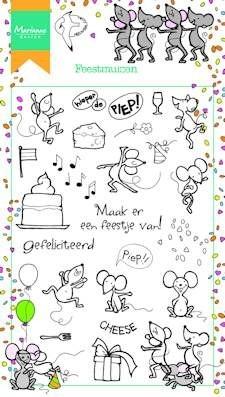 Marianne design, Clear Stamp Feestmuizen