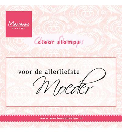 Marianne design, Clear Stamp - voor de allerliefste moeder