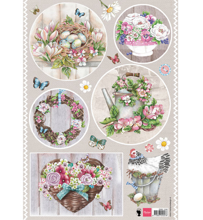 Marianne design, Country style - flowers EWK1240