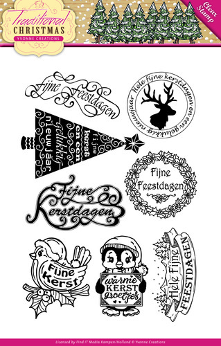 Traditional Christmas - clearstamp -tekst