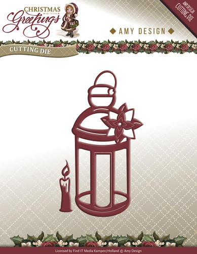 Christmas Greetings -  Lantern - ADD10070