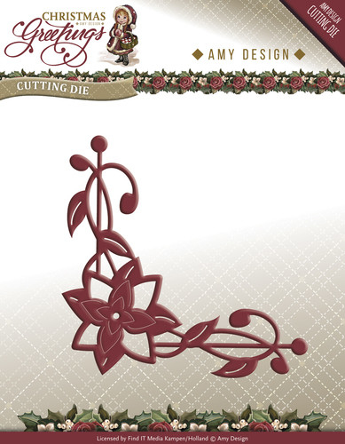 Christmas Greetings -  Poinsettia Corner - ADD10071