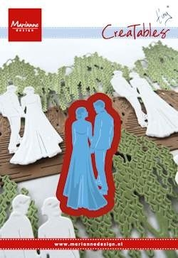 Marianne desgn - Creatables stencil Tiny's wedding