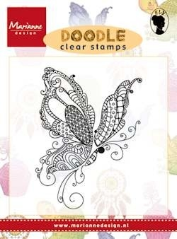 Marianne design, Clear Stamp  -  Doodle butterfly