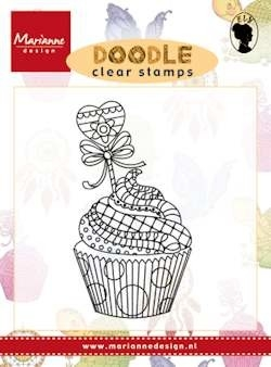 Marianne design, Clear Stamp  -  Doodle cupcake