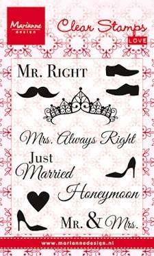 Marianne design, Clear Stamp Mr & Mrs