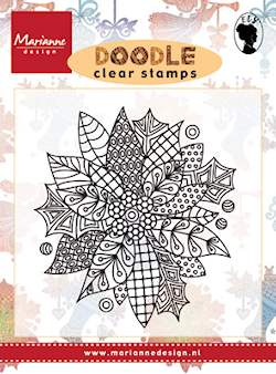 Marianne design, Clear Stamp  -  Doodle Poinsettia