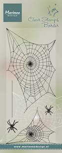 Marianne design, Clear Stamp - Tiny's border- Spider web