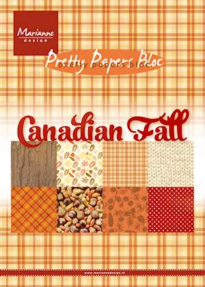 Marianne design - Canadian  Fall - Pretty paper bloc,