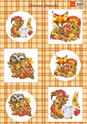 Marianne design, knipvel herfst dieren -vos vk9546