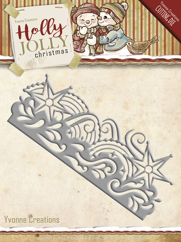 Holly Jolly - die: Snowflake Border