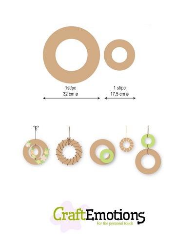 CraftEmotions MDF 2 ringen 32 - 17,5cm x 6mm