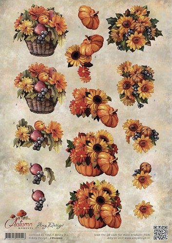 3D Knipvel - Amy Design - Autumn Moments - Herfstbloemen - cd10755