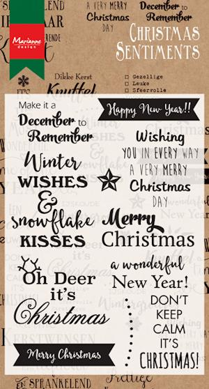 Marianne design, Clear Stamp christmas sentiments