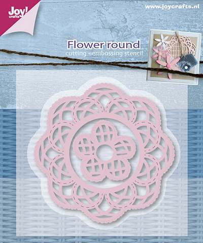Joy Crafts - Joy! stencil - Mery's bloemen rond (5) 6002/0595