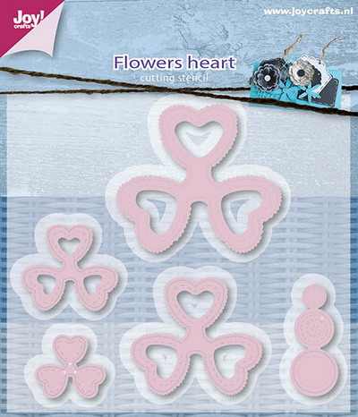 Joy Crafts - Joy! stencil - Mery's bloemenhart (5) 6002/0597