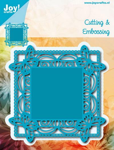 Joy Crafts - Joy! stencil vlinders op de hoeken  6002/0630