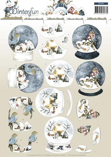 Winterfun- knipvel  globe cd10787