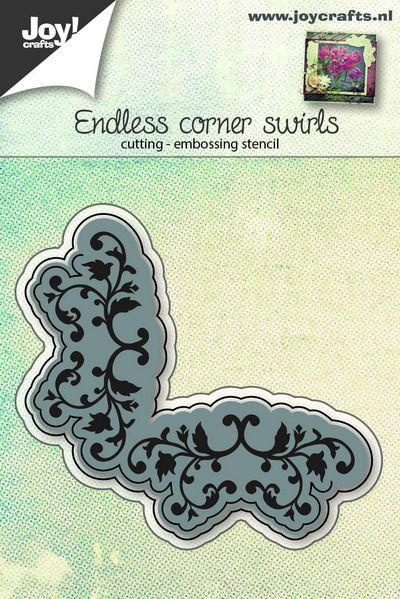 Joy Crafts - Joy! stencil eindeloze hoek met swirls  6002/0651