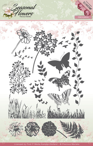 Clearstamp - Precious Marieke - Seasonal Flowers -  PMCS10016