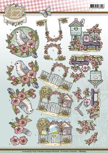 3D Knipvel - Yvonne Creations - Spring-tastic - In the garden