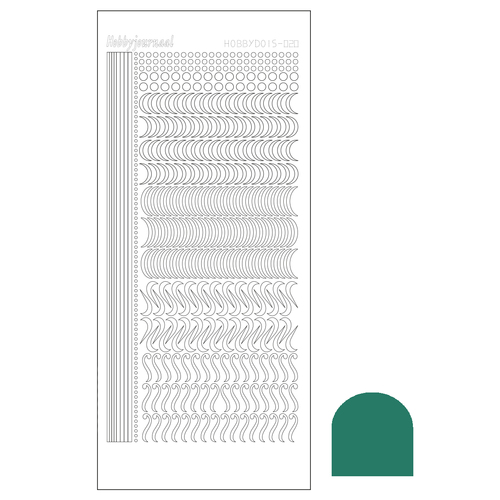 Hobbydots sticker - Mirror - Christmas Green STDM20J