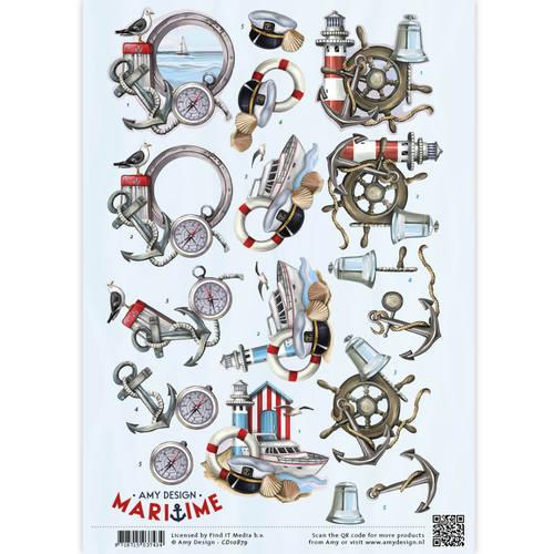 3D Knipvel -  Maritime - Zee elementen
