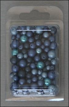 Doosje parelkralen mix blauw