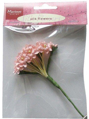 Silk Flowers - Pink -Marianne design JU0853