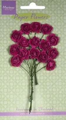 Paper Flowers- Rose - medium pink - Marianne-design RB2247