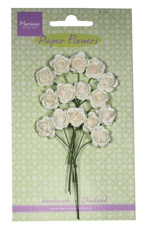 Paper Flowers- Rose - white - Marianne-design RB2244