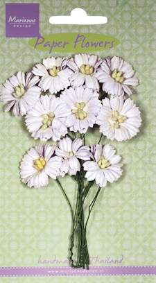 Paper Flowers- Daisy - white - Marianne-design RB2250