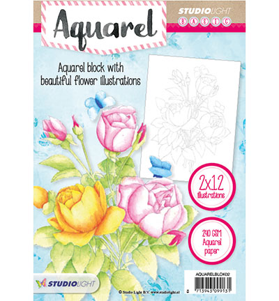 Aquarelblok -24 Illustrations nr.02